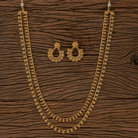 205299 Antique Plain Necklace With Gold Plating