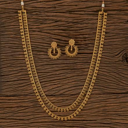205300 Antique Plain Necklace With Gold Plating