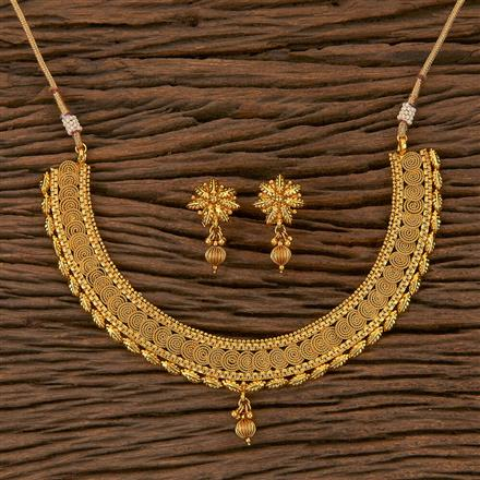 205302 Antique Delicate Necklace With Gold Plating