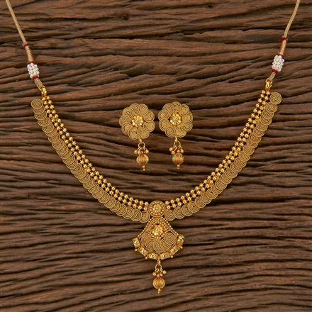 205303 Antique Delicate Necklace With Gold Plating