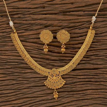 205304 Antique Delicate Necklace With Gold Plating