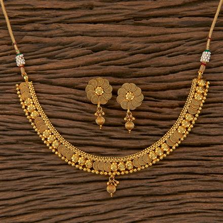 205305 Antique Delicate Necklace With Gold Plating