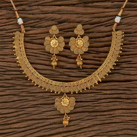 205306 Antique Delicate Necklace With Gold Plating