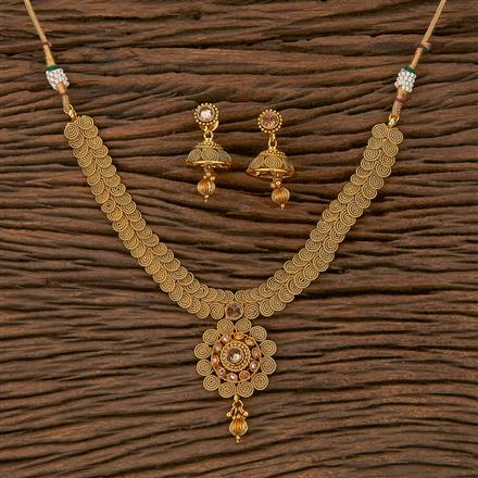205308 Antique Delicate Necklace With Gold Plating