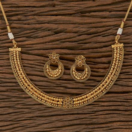 205309 Antique Delicate Necklace With Gold Plating