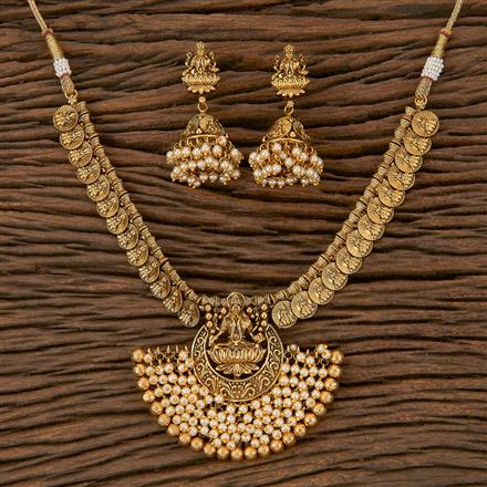 205311 Antique Pearl Necklace With Gold Plating