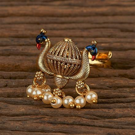 205326 Antique Peacock Ring With Gold Plating
