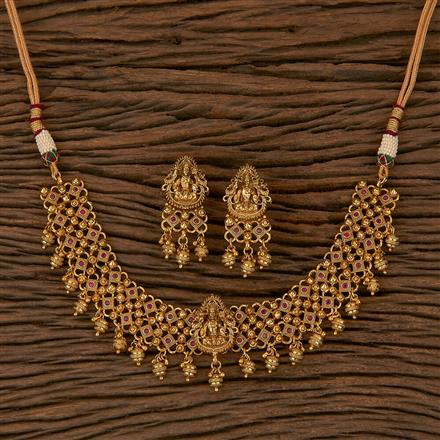 205338 Antique Temple Necklace With Gold Plating