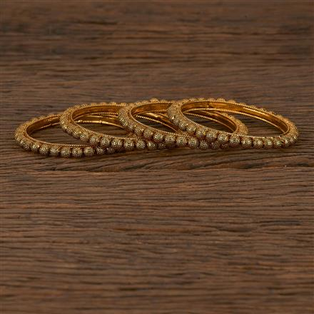 205339 Antique Plain Bangles With Gold Plating