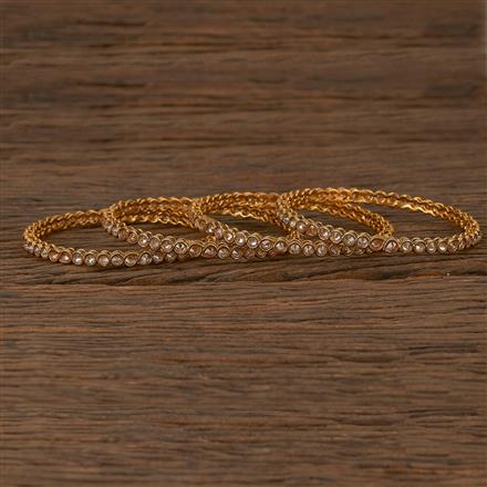 205341 Antique Delicate Bangles With Gold Plating