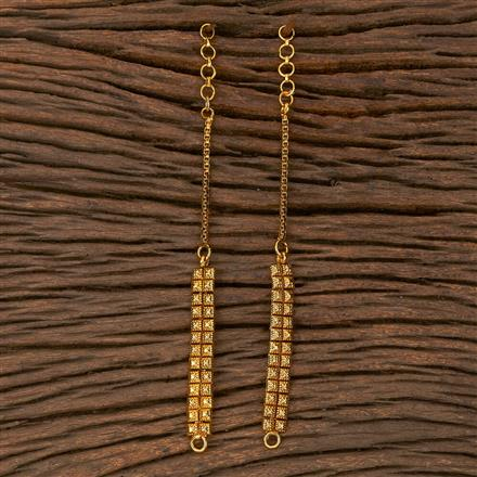 205380 Antique Plain Ear Chain With Gold Plating