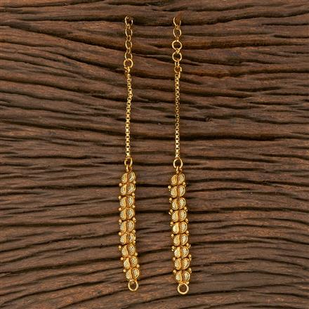 205382 Antique Plain Ear Chain With Gold Plating