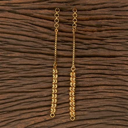 205383 Antique Plain Ear Chain With Gold Plating