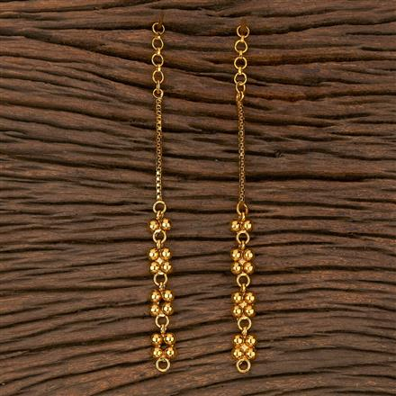 205384 Antique Plain Ear Chain With Gold Plating