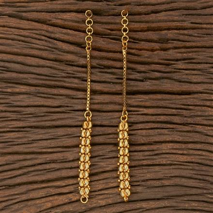 205385 Antique Plain Ear Chain With Gold Plating