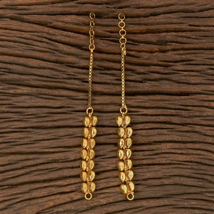 205386 Antique Plain Ear Chain With Gold Plating