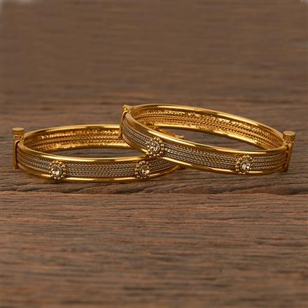 205406 Antique Openable Bangles With Gold Plating