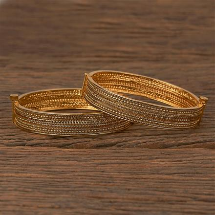 205407 Antique Plain Bangles With Gold Plating