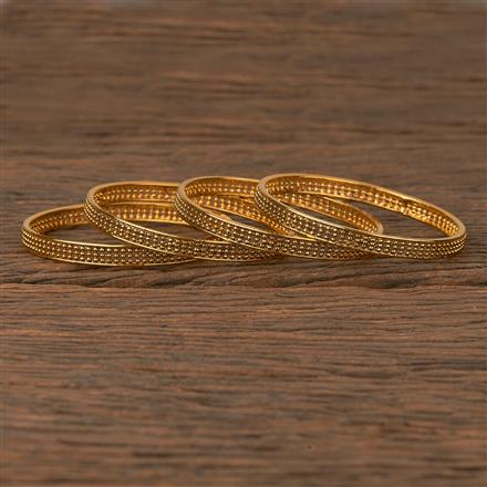205408 Antique Plain Bangles With Gold Plating