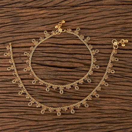205430 Antique Delicate Payal With Gold Plating