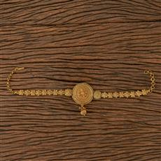205482 Antique Plain Baju Band With Gold Plating