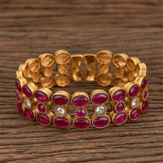 205570 Antique Adjustable Bracelet With Gold Plating