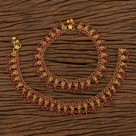 205613 Antique Classic Payal With Matte Gold Plating