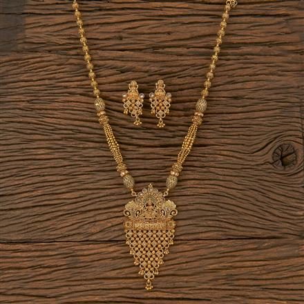 205670 Antique Temple Pendant Set With Gold Plating