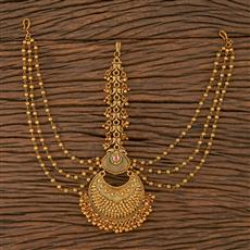 205684 Antique Chand Damini With Matte Gold Plating