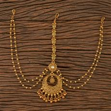 205687 Antique Chand Damini With Matte Gold Plating