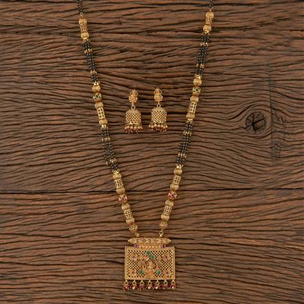 205797 Antique Temple Mangalsutra With Gold Plating