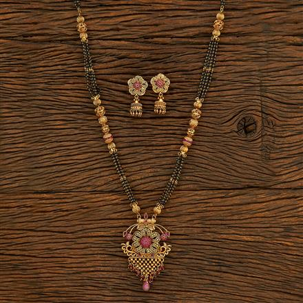 205798 Antique Classic Mangalsutra With Gold Plating