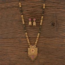 205799 Antique Classic Mangalsutra With Gold Plating