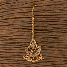 205848 Antique Chand Tikka With Gold Plating
