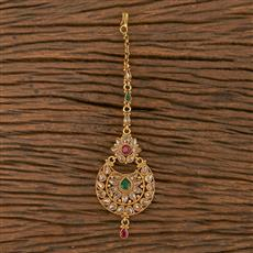 205849 Antique Chand Tikka With Gold Plating