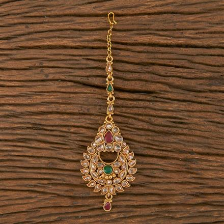 205855 Antique Chand Tikka With Gold Plating