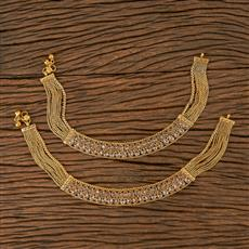 205861 Antique Classic Payal With Gold Plating