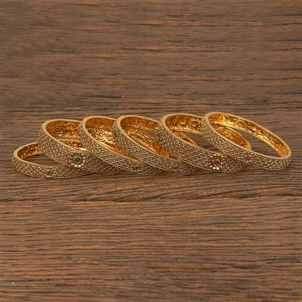 205888 Antique Classic Bangles With Gold Plating