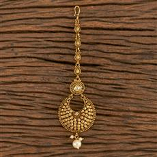 205921 Antique Chand Tikka With Gold Plating