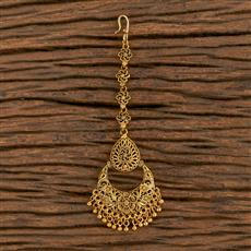 205922 Antique Chand Tikka With Gold Plating