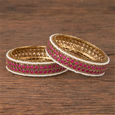 206030 Antique Classic Bangles With Mehndi Plating