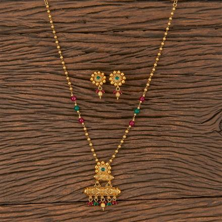 206072 Antique Classic Pendant Set With Gold Plating