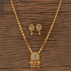 206074 Antique Classic Pendant Set With Gold Plating