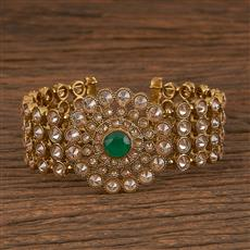 206086 Antique Adjustable Bracelet With Mehndi Plating