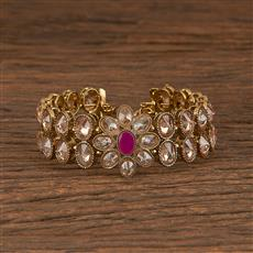 206087 Antique Adjustable Bracelet With Mehndi Plating