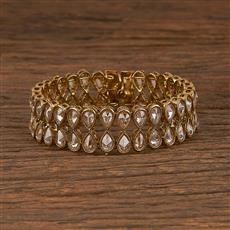206088 Antique Adjustable Bracelet With Mehndi Plating