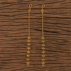 206117 Antique Plain Ear Chain With Gold Plating