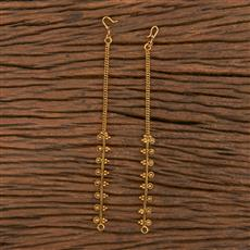 206118 Antique Plain Ear Chain With Gold Plating