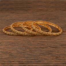 206187 Antique Plain Bangles With Gold Plating