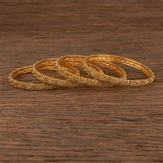 206188 Antique Plain Bangles With Gold Plating